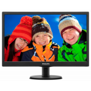"LCD PHILIPS 18.5"" 193V5LSB2 (10/62) черный {TN (LED), 1366x768, 5ms, 250cd/m2, 1 000:1, (700:1), 90/65, D-Sub}"