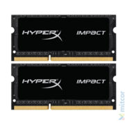 Модуль памяти Kingston DDR3 SODIMM 16GB Kit 2x8Gb HX318LS11IBK2/16 PC3-15000, 1866MHz, 1.35V, HyperX Impact Black Series