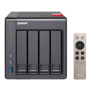 Сетевое хранилище без дисков SMB QNAP TS-451+-2G NAS, 4-tray w/o HDD. Quad-core Intel Celeron J1900 2.0-2.42GHz, 2GB (up to 8GB), HDMI-port. 4xUSB, 2xGb LAN
