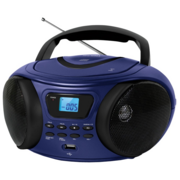 Аудиомагнитола CD/MP3 BBK BX170BT (DB) blue (4Вт, CD/MP3, Bluetooth, USB, FM, AUX, Выход на наушники) (BX170BT (DB))