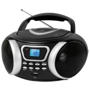 Аудиомагнитола CD/MP3 BBK BX170BT (B/S) black (4Вт, CD/MP3, Bluetooth, USB, FM, AUX, Выход на наушники) (BX170BT (B/S))