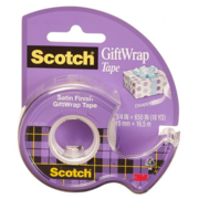 Клейкая лента канцелярская 3M Scotch Satin 7100093925 шир.19мм дл.7.5м полуматовая на мини-диспенсере