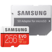 Карта памяти Micro SecureDigital 256Gb Samsung EVO Plus v2 Class 10 MB-MC256GA/RU {MicroSDXC Class 10 UHS-I U3, SD adapter}