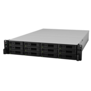 Synology RS2418RP+ Сетевое хранилище Rack 2U QC2,1GhzCPU/4Gb(up to 64)/RAID0,1,10,5,6/up to 12hot plug HDDs SATA(3,5' or 2,5')(up to 24 with RX1217RP)/2xUSB/4GigEth(+1Expslot)/iSCSI/2xIPcam(up to 40)