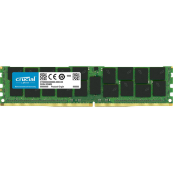 Память оперативная Crucial 64GB DDR4 2666 MT/s (PC4-21300) CL19 QR x4 Load Reduced DIMM 288pin