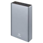 Мобильный аккумулятор Digma Power Delivery DG-PD-30000-SLV QC 3.0 PD(18W) Li-Pol 30000mAh 3A серебристый 3xUSB материал алюминий