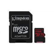 Флеш карта microSDXC 512Gb Class10 Kingston SDCR/512GB Canvas React + adapter
