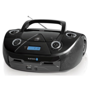 Аудиомагнитола CD/MP3 BBK BX318BT (B) black (5Вт, CD/MP3, Bluetooth, USB, FM, AUX, Выход на наушники) (BX318BT (B))