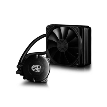 Устройство охлаждения(кулер) Deepcool Watercooler MAELSTROM 120K Soc-FM2+/AM2+/AM3+/1150/1151/1155/2011/ 4-pin 18-32dB Al 150W 756gr LED Ret
