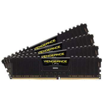 Модуль памяти Corsair DDR4 DIMM 32GB Kit 4x8Gb CMK32GX4M4A2666C16 PC4-21300, 2666MHz, CL16