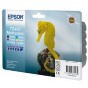 EPSON C13T04874010 Epson картридж MultiPack R200/R300 (Cyan,Magenta,Yellow,Black,Cyan light,Magenta light) (cons ink)
